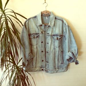 Free people jean jacket, practically brand new!